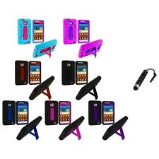 Hybrid Case Cover Stand+Stylus Plug for Samsung Attain Galaxy S2 II i9100