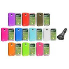 Color S-Line TPU S-Shape Case Cover+Car Charger for Samsung Galaxy S4 SIV i9500