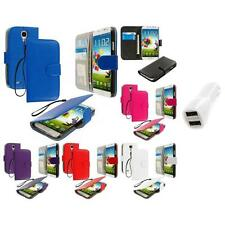 For Samsung Galaxy S4 Wallet Pouch Flip Case Accessory Car Charger