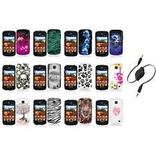 For Samsung Proclaim S720C Illusion Color Hard Design Case Cover+Aux Cable