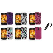 For ZTE Force N9100 Bling Rhinestone Design Hard Case Cover+Stylus Plug
