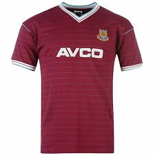 Score Draw West Ham United FC 1986 Home Shirt Tee Top Mens Gents