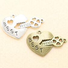 10/50 Pcs Retro Style Delicate Best Friends Alloy Charm Pendant Jewelry Finding