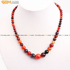 Round Smooth Gradient 6-14mm Gemstone Finished Jewelry Necklace Gift Gem-inside