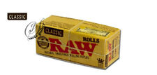 RAW KING SIZE CLASSIC NATURAL UNREFINED ROLLING PAPERS ROLLS-7371