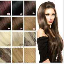"15""-22"" 7pcs set full head lot Clip In Remy Human Hair Extensions 100% real hair"