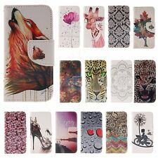 BOYA Colorful Painting Flip Wallet Leather Stand Case Cover for SONY LG NOKIA
