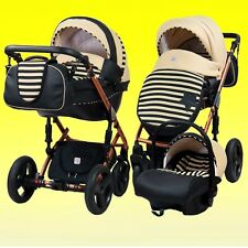 Pram stroller pushchair travel system buggy DP-Star with option car seat Isofix