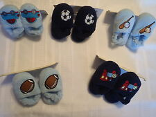 CHATTIES Boys Toddler Size 7 8 9 10 or 11 12 Slipper Baseball Train Choice NWT