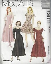 McCalls Sewing Pattern # 7088 Misses Flared Dress in 2 Lengths Choose Size