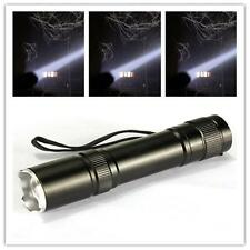 CREE LED Q5 Flashlight Torch Zoomable Focus Zoom Light Lamp 18650 Camping TA