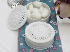 "2.25"" Carved PLASTIC ROUND FAVOR BOXES Holders Wedding Party Gifts WHOLESALE"