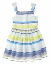 NWT Gymboree BLUE SAFARI Girls Size 5 Striped Linen Dress