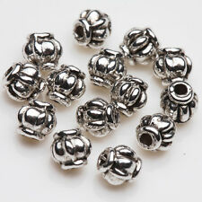 Wholesale 50/100Pcs Tibet Silver Charm Loose Spacer Beads Jewelry Findings 4mm