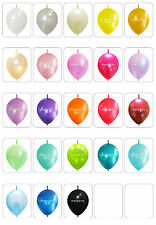 100X Link-o-Loons Latex Balloons Arch Pearl color Birthday Wedding Party decor