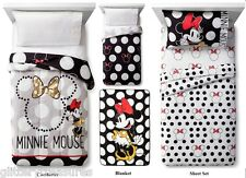 KIDS DISNEY MINNIE MOUSE BLACK & WHITE BED IN A BAG / COMFORTER SET - 2 PRINTS