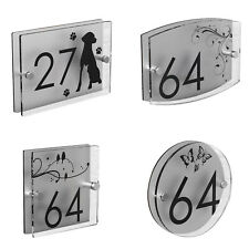 House Number Plaques Patterned Door Acrylic Sign Name Plate