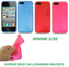 SOFT TPU GEL SILICONE S-LINE BACK CASE COVER SKIN FOR IPHONE 5/5S