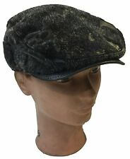 IVY Newsboy Duckbill Cabbie Golf Driving Faux Fur Leather Cap and Hat