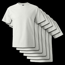5 PACK WHITE Hanes Beefy-T 5180 Cotton T-Shirt S-6XL* Blank T-Shirt BRAND NEW