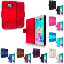 For Samsung Galaxy S6 Crocodile Wallet Leather Case Cover Pouch Slots Accessory