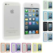 Color TPU Jelly Solid Gloss Bumper Case Skin Gel Cover for iPhone 5 5G 5S