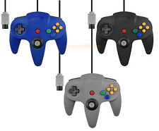 NEW Wired Controller for Nintendo N64 Black Grey Blue AU