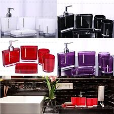 1Set(5ps) Bathroom Accessories Shower Soap Dish Toothbrush Holder Cup Bottle AU