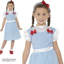 Girls Dorothy Costume Kids Childs Wizard Of Oz Fancy Dress World  Book Day Week