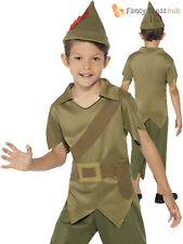 Boys Robin Hood Costume *FREE POST* Fancy Dress Kids Book Week Day Outfit