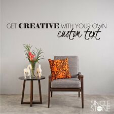 Custom Wall Decal - Create Your Own - Vinyl Wall Sticker Art