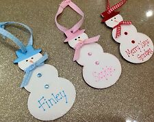 PERSONALISED CHRISTMAS TREE DECORATION SNOWMAN HANGER BEST MUMMY DADDY 2015