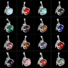Multi-Color Gemstone Pendant Silver Plated Dragon Claw Wrap Ball Beads Pendant