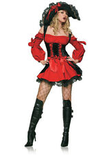 Womens Velvet Sexy Pirate Costume with Corset