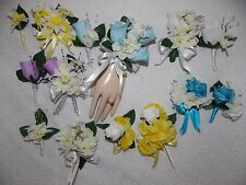 2PCS Set Corsage & Boutonniere Mini Daffodils Many colors choose & accent colors