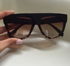Celine Shadow (inspired) Black And Brown Sunglasses