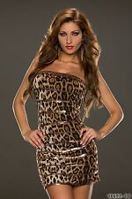 Party Club Wear Sexy Hot Stylish Cocktail Dress UK size 8-10 Animal Print