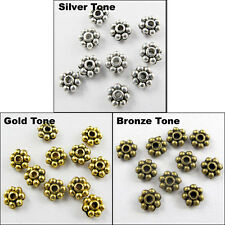 70 New Charms Tibetan Silver Gold Bronze Tone Tiny Daisy Spacer Beads 5mm