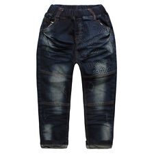Kid Boys Toddlers 100% Cotton Trousers Stereo letters Denim Pants Jeans P1152