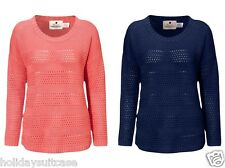 NEW LADIES WOMANS WINTER SWEATER JUMPER NAVY OR CORAL SIZE 10-24 UK