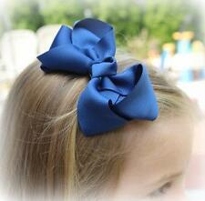 Hair Bows, Girls Bows, Boutique Hairbows, Lot Set of 14 bows, Single Layer bow,