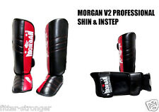 MORGAN V2 PROFESSIONAL SHIN and INSTEP guards muy thai boxing kickboxing MMA pad