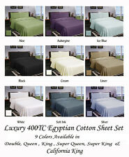 40cm or 50cm Wall Luxury 400TC Egyptian Cotton Sheet Set Double Queen King