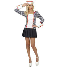 SAILOR FEMALE DELUX QUALITY STRETCH FABRIC FANCY DRESS COSTUME