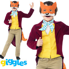 Boys Fantastic Mr Fox Costume Roald Dahl Fancy Dress World Book Day Week Outfit