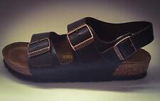 New Birkenstock Milano Sandals - Brown Leather - Made in Germany - RRP $155