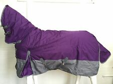 600D PURPLE/GREY 300G WINTER STABLE HORSE COMBO RUG - 6' 3