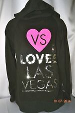 Victorias Secret Supermodel Essentials VS LOVES LAS VEGAS Bling Hooodie NWT L
