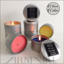 100% NATURAL unscented SOY WAX TIN CANDLE 43 hour burn CONTAINER CANDLES online