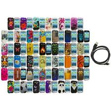 Design Hard Snap-On Rubberized Case Cover+6FT Cable for Samsung Galaxy S3 S III